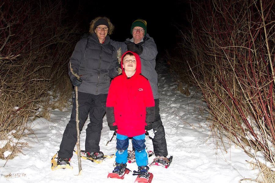 Hike or Snowshoe By Candlelight at Woodland Dunes