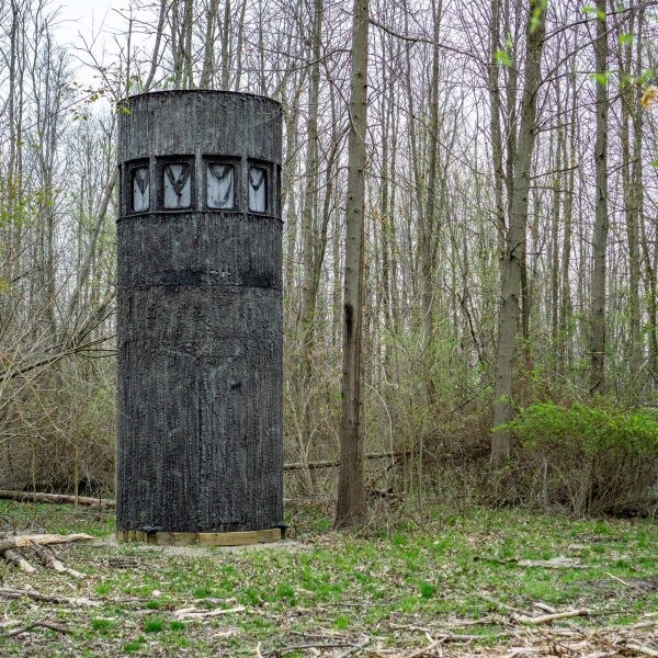 Ultimate Deer Blind, called a Stump Blind,  Check this out, go to their web page