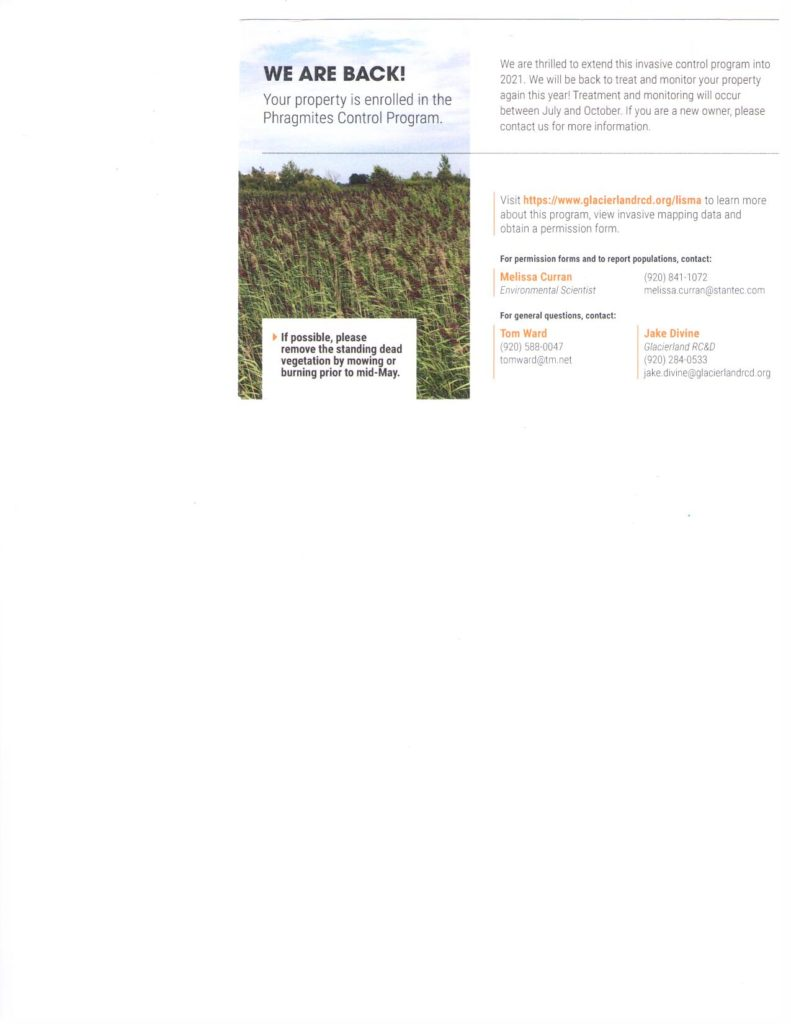 Does your property have Phragmites on it?? Here is a control program you need to check into.